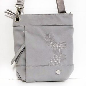 Haiku Grey Nylon Lightweight crossbody Bag
